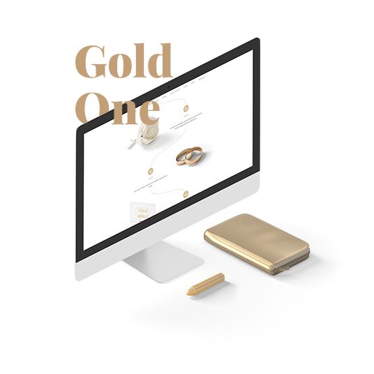 Zaproszenia ślubne - motyw Gold One